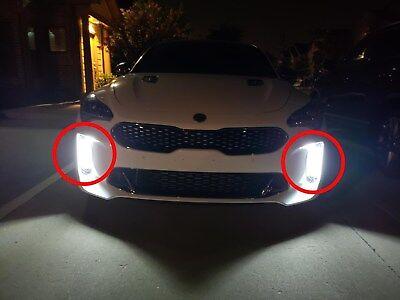 Front Bumper Surface Emission LED Fog Lamp Light DRL For Kia 2018~2022+ Stinger