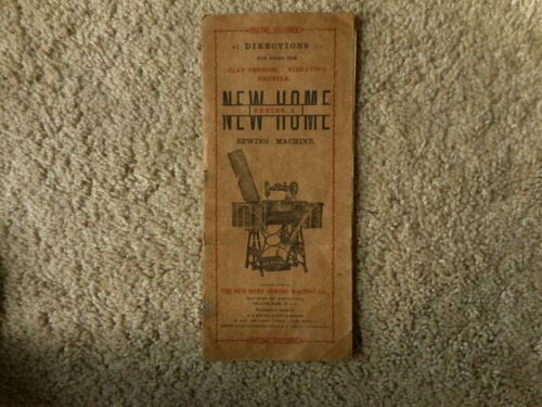 Antique Sewing Machine Book Only New Home Series A Pamphlet