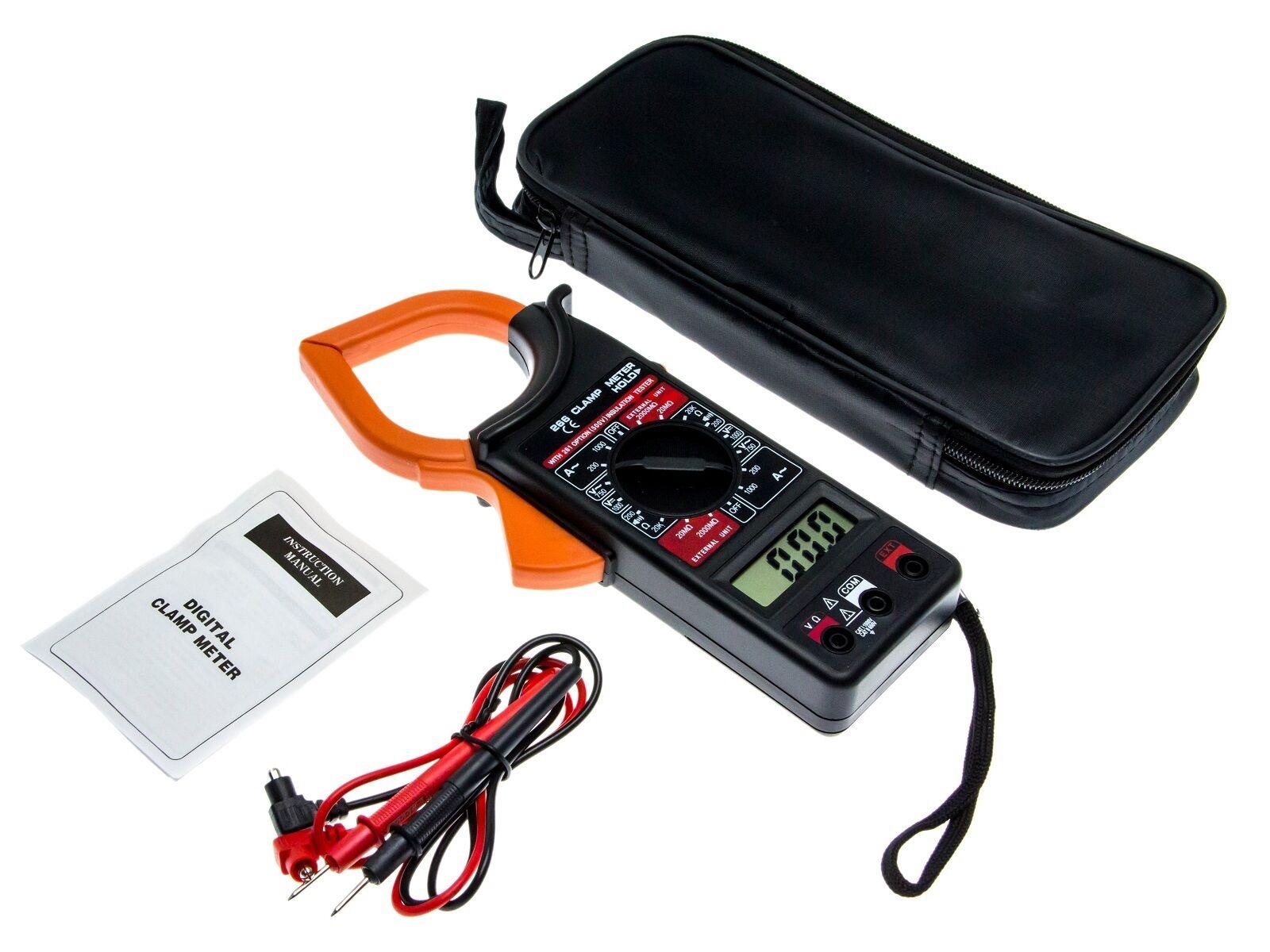 Digital Clamp Meter : Digital pliers multimeter ac to dc clamp meter current