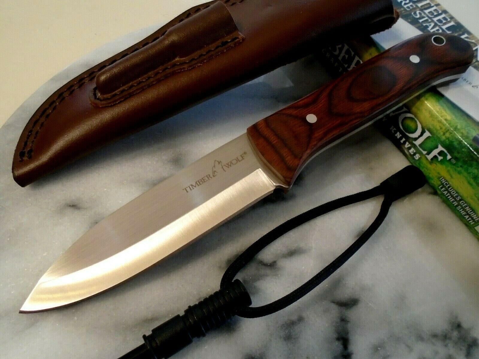 Timber Wolf Bushcraft Full Tang Bowie Hunter Survival Knife