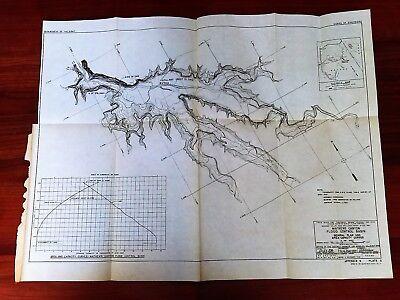 1948 Mathews Canyon Map Flood Control Basin NV UT Spillway Crest Axis of Dam