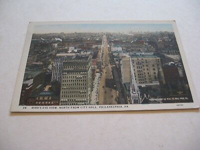 vintage antique color picture postcard North from City Hall Philadelphia -