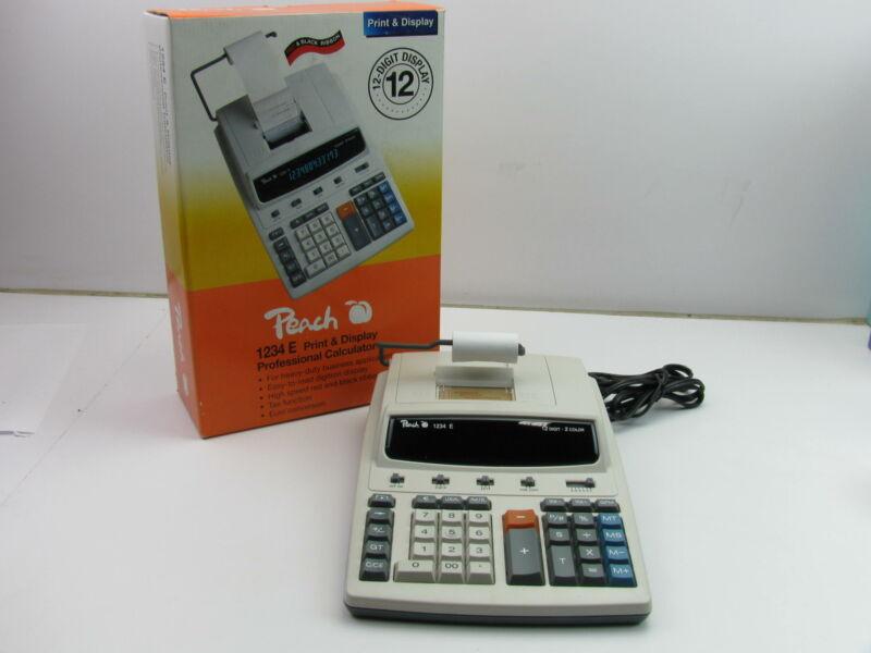 Peach 1234 Desktop Print & Display Professional Calculator 2 Color