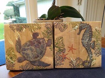 Creative Converting LUNCH PAPER NAPKINS CORAL TURTLE & SEAHORSE 2 PKS 36 CT EA - Coral Paper Napkins