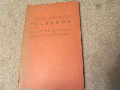 Vintage Allan Troy Chess Book-Ed#1-VERY RARE-1945 US Chess Yearbook! for sale  Tubac