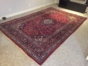 Persian Hand Knotted Rug Kashan Pattern