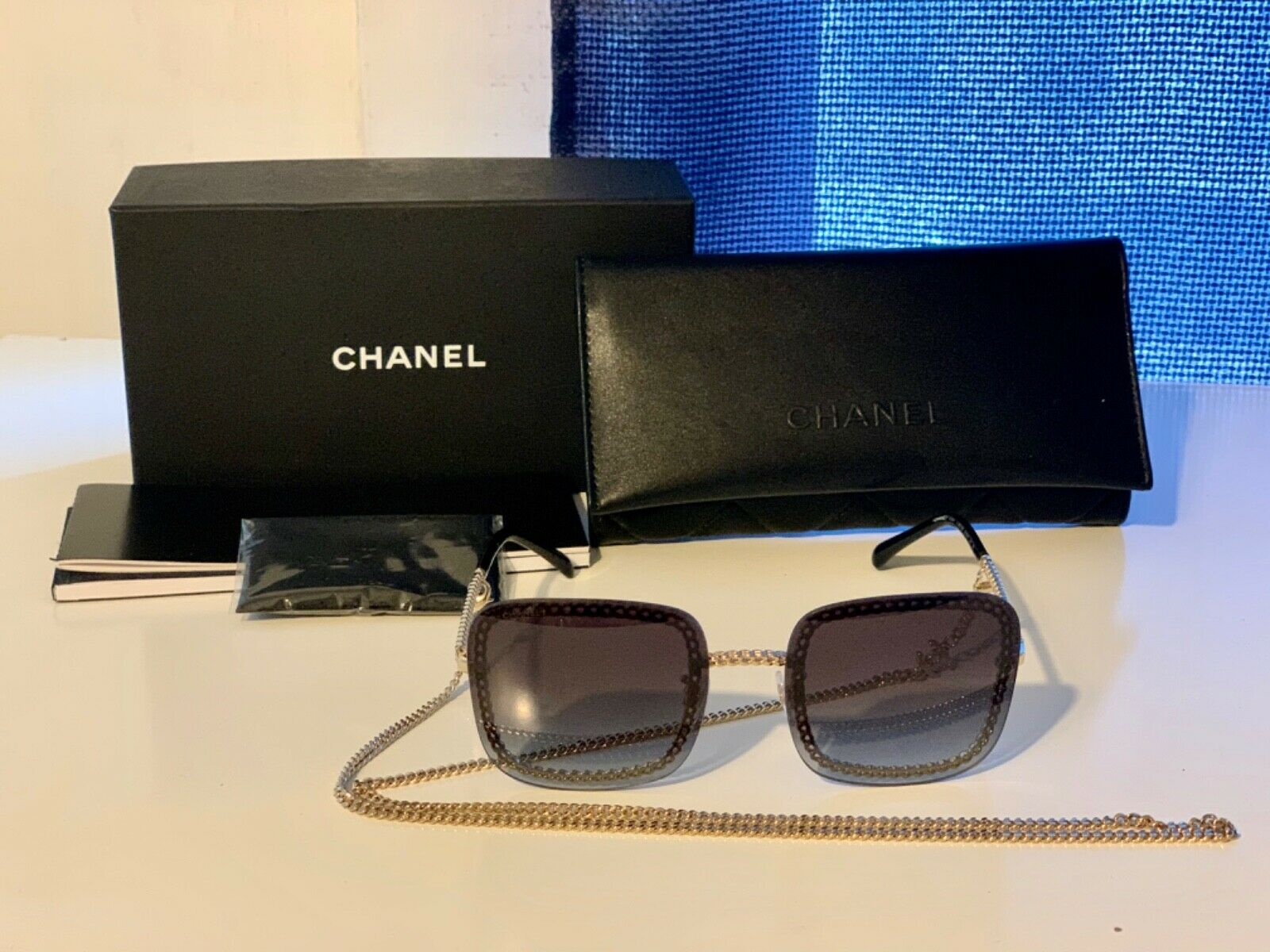 Chanel Sunglass with Chain AUTHENTIC