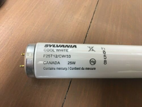 Sylvania F25T12/CW/33 33 Inch T12 Fluorescent Tube Bi-Pin Base Cool White 25 Wat