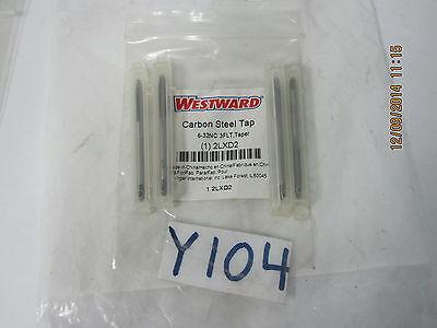 Set Of 4 Westward Carbon Steel Taps 6-32nc 3flt Taper 2lxd2