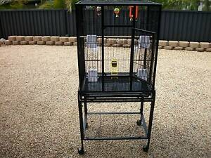 as new black bird cage on a stand with wheels Shailer Park Logan Area Preview