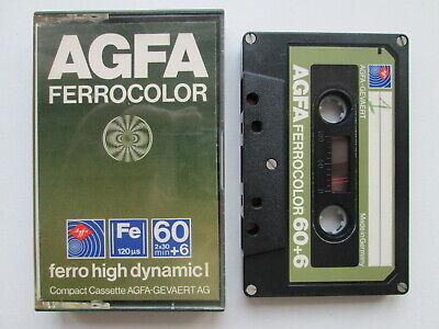 TAPE Vintage AUDIO CASSETTE  AGFA FERROCOLOR HIGH DYNAMIC I  60+6  GERMANY