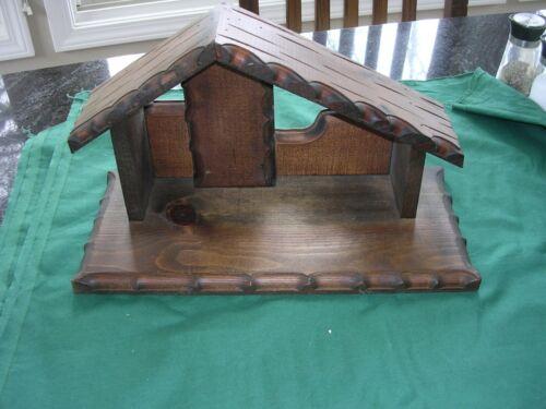 #K Vintage Black Forest Haus Von Martin Nativity Creche Stable Wood Manger