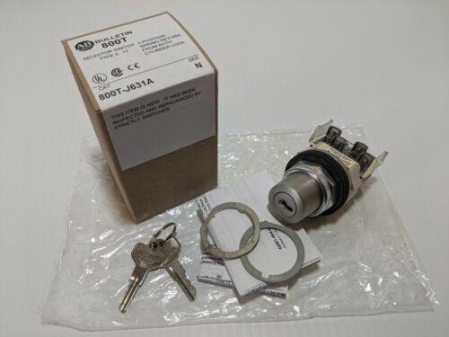 ALLEN BRADLEY 800T-J631A CYLINDER LOCK SELECTOR SWITCH 3 POS 1 NO 1 NC SER N NIB