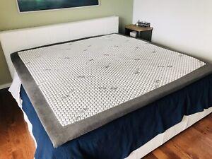 Surmatelas Zedbed pour lit king, avec housse lavable 72x80