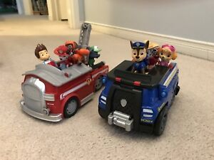 Paw Patrol vehicles and figures