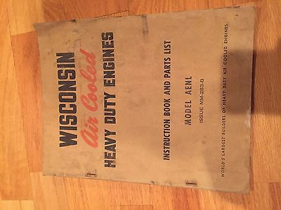 Wisconsin Engine Rebuild Instructions Parts Manual Model Aenl