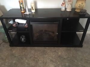 Entertainment stand fireplace
