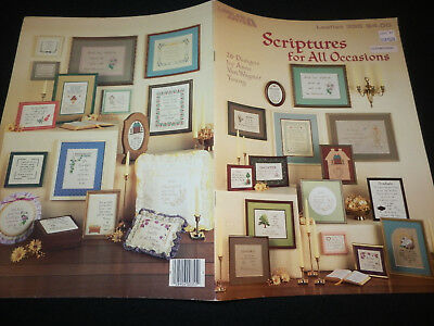 Scriptures for All Occasions Leisure Arts Leaflet # 355 Cross Stitch Pattern