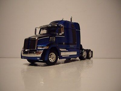 Dcp 1 64 Blue And Black Western Star 5700Xe With Mid Roof Sleeper