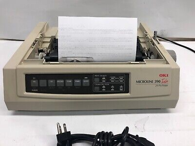 Oki Microline 390 Turbo 24-Pin Dot Matrix Printer USB Parallel GE7200A (Oki Microline 390 Turbo 24 Pin Printer)