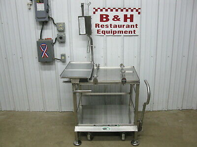 Face To Face Service Fresh Deli Stainless Steel Mobile Table Slicer Buddy Cart