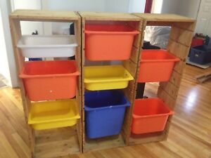 3 Storage Towers with Ikea Bins
