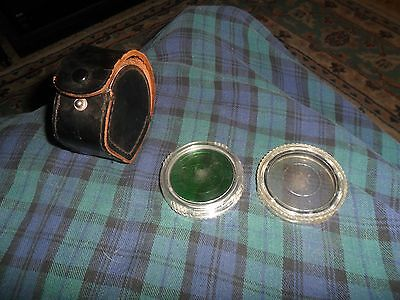 Vintage Tiffen Photar Sky 1-A Series 7 & Green 1 Series 7 Photo Lot Of 2 W/ Case