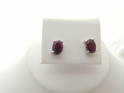 Ruby Designer Earrings 2CWT w/Sterling Silver - NWT