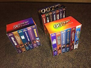 James Bond collection on VHS