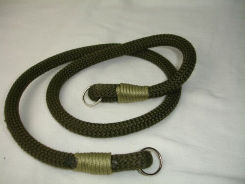 ROPE camera neck strap , with lug rings , Olive green