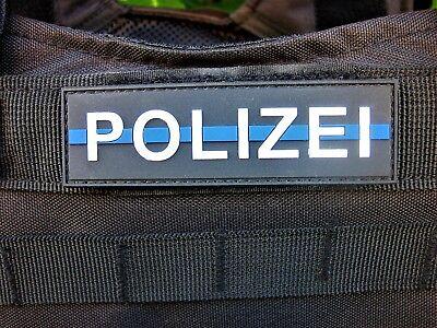 Polizei Klettpatch Rubberpatch ca. 10 x 3 cm thin blue line Deutschland Polizei