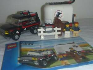LEGO CITY 4WD JEEP & HORSE TRAILER SET 7635 COMPLETE