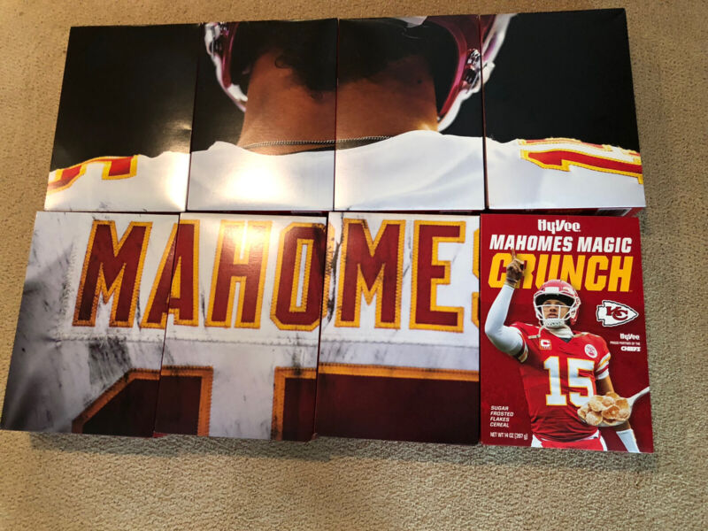 MAHOMES MAGIC CRUNCH All 8 OF AN 8 PART LIMITED EDITION CEREAL SERIES 2020-RARE!