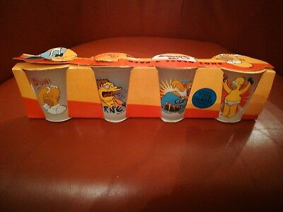 Vintage The Simpsons Shot Glasses - 4 Pack BNIB Circa 1999 Official Product