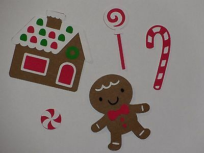 gingerbread man house candy cane scrapbooking die cuts