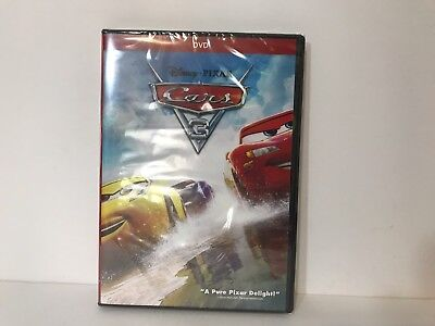 Cars 3 (DVD 2017) Disney, NEW, Sealed!  Family Animation FREE SHIPPING in USA!