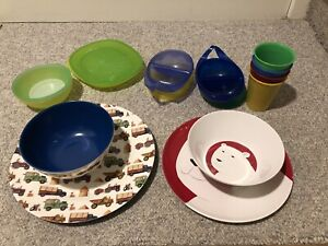 Used plastic dishes