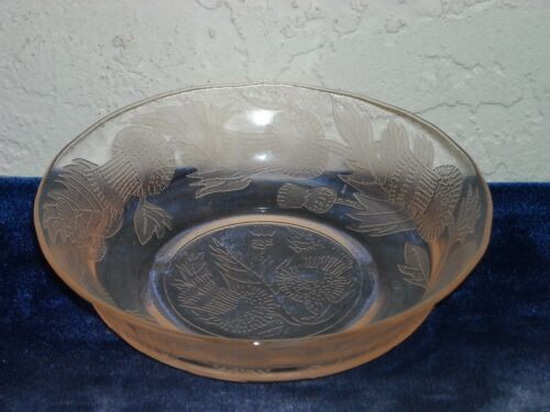 Thistle Cereal Bowl  Pink