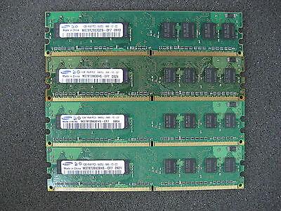 4GB Brand Name (4x 1GB) PC2-6400U DDR2 800Mhz 1Rx8 Non-ECC Desktop DIMM Memory