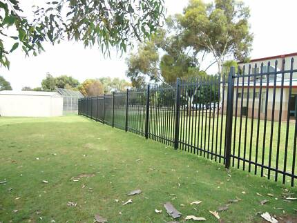 Steel fencing, steel security fencing, industrial fencing perth