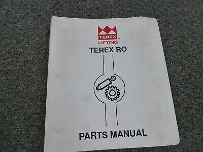 Terex Simon Ro Tc-3851 Truck Crane Parts Catalog Manual Book