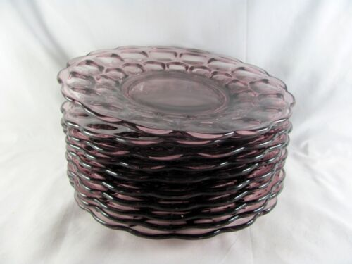 """10 Imperial Provincial Amethyst Luncheon Plates, 8-1/4"""", purple, glass"""