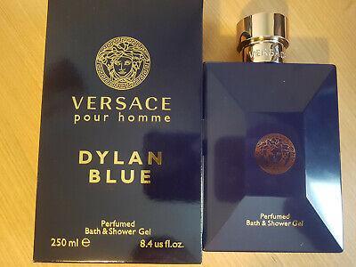 Versace Dylan Blue Bath & Shower Gel 250ml, Perfumed Body Wash, Luxury Boxed Gel