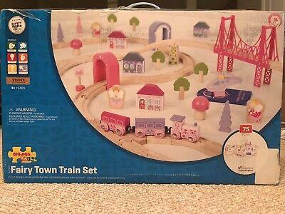 Bigjigs rail, fairy town train set, NIB, little girl wooden train set - Fairy Train Set