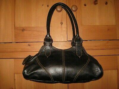 HIDESIGN BLACK LEATHER SHOULDER BAG+EXCELLENT