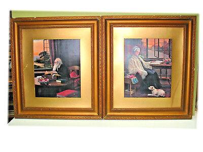 Pair, 19tt C. Antique Framed Prints