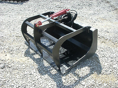 Bobcat Skid Steer Attachment - 48 Solid Bottom Grapple Bucket - Free Ship