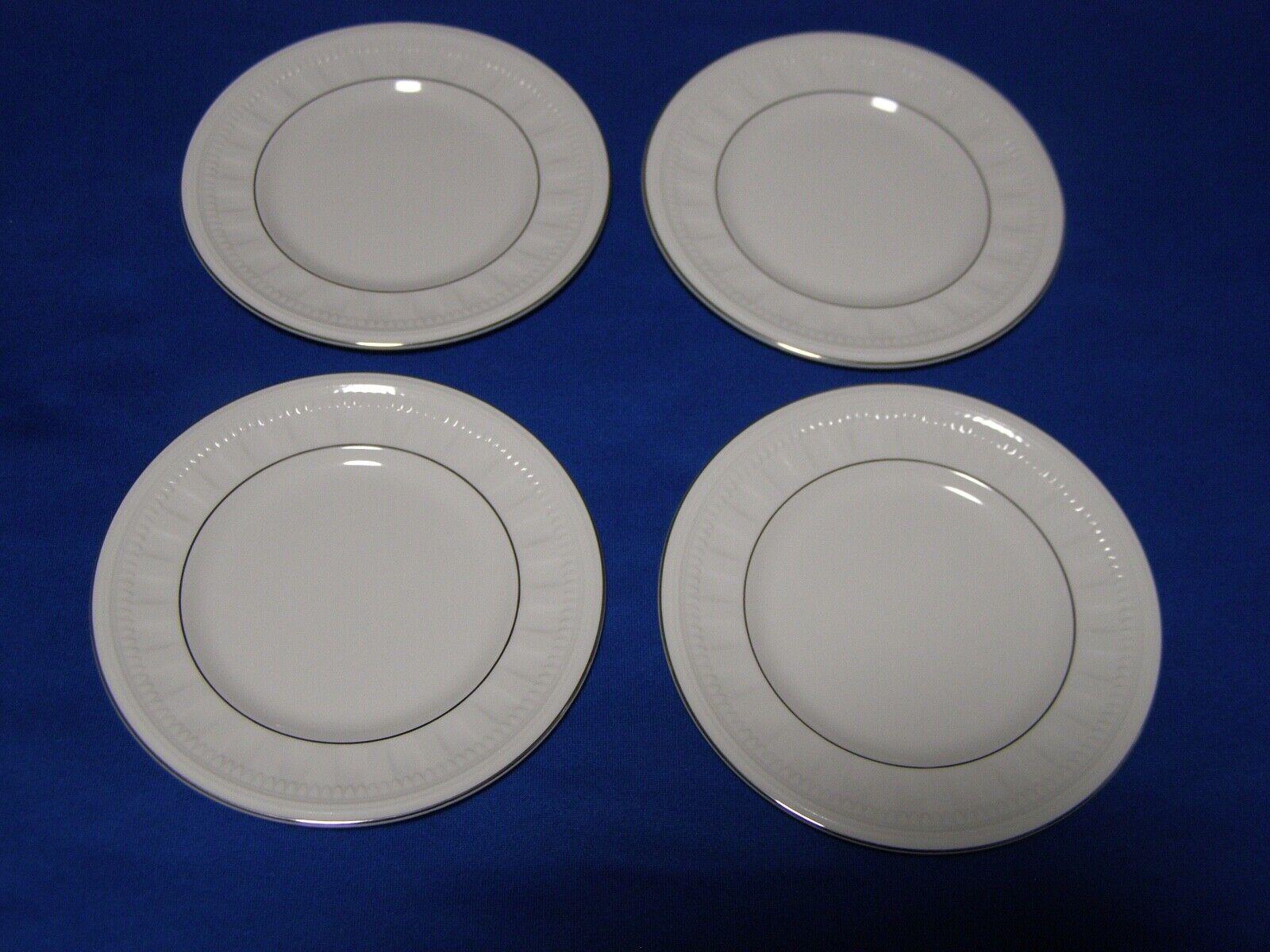 4 Wedgwood Colosseum Platinum Pattern Bone China Bread Plates Bicentenary 1995 - $39.99
