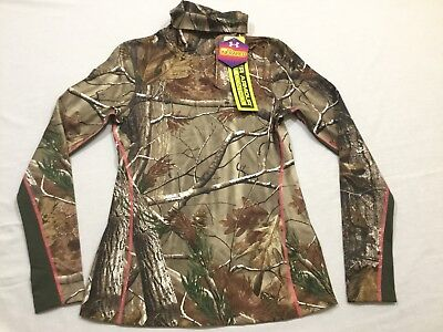 M126 New NWT UNDER ARMOUR Cold Gear Infrared Scent Control Shirt WOMEN'S M L