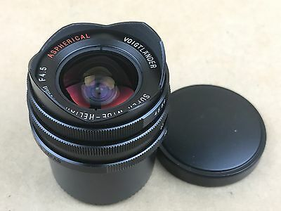Voigtlander Super Wide Heliar Aspherical 15mm f/4.5 lens Leica screw mount (M39)
